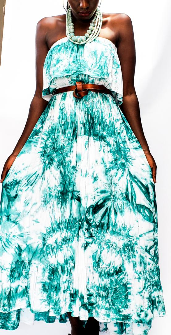 Hand-dyed cotton maxi dress