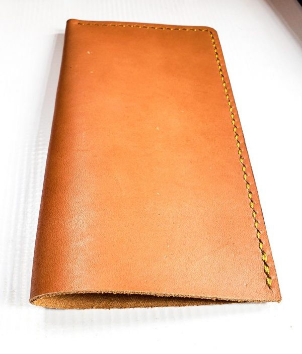 Brown phone pouch